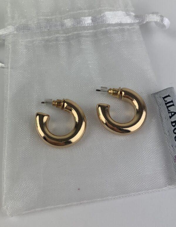 Lila Gold Half Hoop Earrings