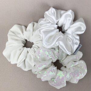 Lila Bridal Scrunchies