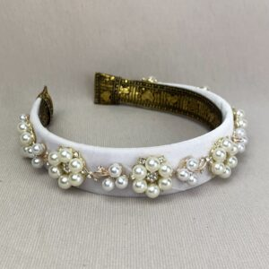 Lila White Jewelled Headband