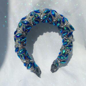 Lila Blue Diamond Padded Headband