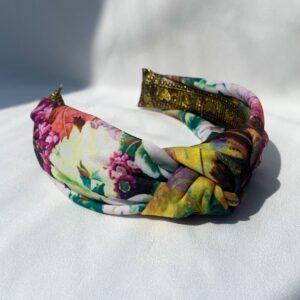 Lila Fleur Turban Headband