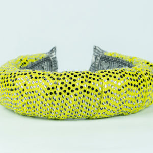 Lila Lime Green Padded Headband