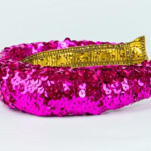 Lila Hot Pink Sequin Padded Headband