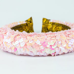 Lila Baby Pink Sequin Padded Headband