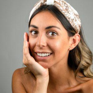 Lila White Glitz Bow Headband