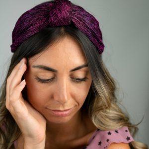 Lila Plum Turban Headband