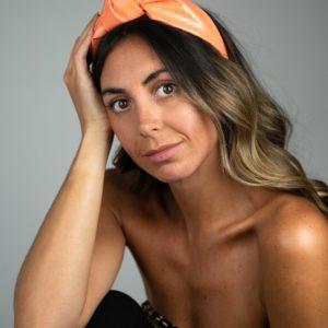 Lila Neon Orange Turban Headband