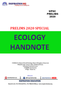 ECOLOGY HAND NOTE APSC