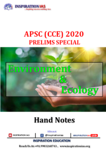 ENVIRONMENT & ECOLOGY APSC HAND NOTE