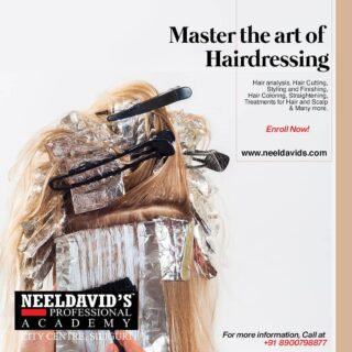 Neeldavid's Professional Academy's Advanced Course in Hair helps you to learn more about hair care and styling. Our advanced curriculum also enables you to gain a thorough understanding  of various haircuts, hair coloring, hair setting, salon protection, and professional growth.  To enroll, click the link on the bio Or simply visit www.neeldavids.com   For more course-related information, Call at +91 890098877  #hairdressing #hair #hairdresser #haircut #hairstylist #hairstyles #hairstyle #haircolor #hairgoals #balayage #hairsalon #barber #beauty #salon #hairstyling #instahair #barbershop #behindthechair #haircare #makeup #haircolour #hairdo #barbering #hairdresserlife #hairfashion #hairinspiration #hairoftheday #longhair #hairtransformation #bhfyp