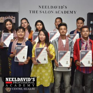 We are always happy and proud of our graduates from our professional academy. At Neeldavid's Professional Academy, we help you turn your passion into a career. Our courses allow to gain insight into various techniques and treatments under the guidance of a professional trainer. To know more visit our website www.neeldavids.com  For more course related information, call us at 8900798877  #graduates #salonacademy #salonacademygraduates #proud #neeldavidsprofessionalsalonacademy #hairtsylist #professionals #hairdresser #makeupartist #skinscience #salonmanager #haircourse #beautytherapist #skincourse #makeupcourse