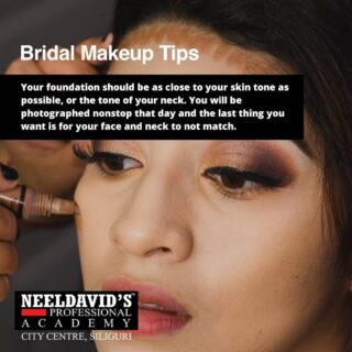 Bridal Makeup tips 101  ENROLL in  Neeldavid's Professional Academy to receive more expert advice on a variety of bridal makeup techniques.   Our professional mentors will teach you how to apply perfect bridal makeup. You'll also learn about the best makeup items to use and how to apply them to receive the desired look.  Get complete guidance from the industry experts and become job-ready!  To enroll, click the link on the bio  Or visit www.neeldavids.com   For more course related information, Call at +91 8900798877  #bridemakeup #bride #makeup #makeupartist #weddingmakeup #wedding #bridalmakeup #bridetobe #mua #weddingdress #weddingphotography #weddingday #bridesmaids #bridestory #weddinginspiration #bridehairstyle #beauty #weddinghair #bridal #bridestyle #makeupwedding #makeuptutorial #photography #brides #muajakarta #bridedress #bridalmakeupartist #weddingmakeupart