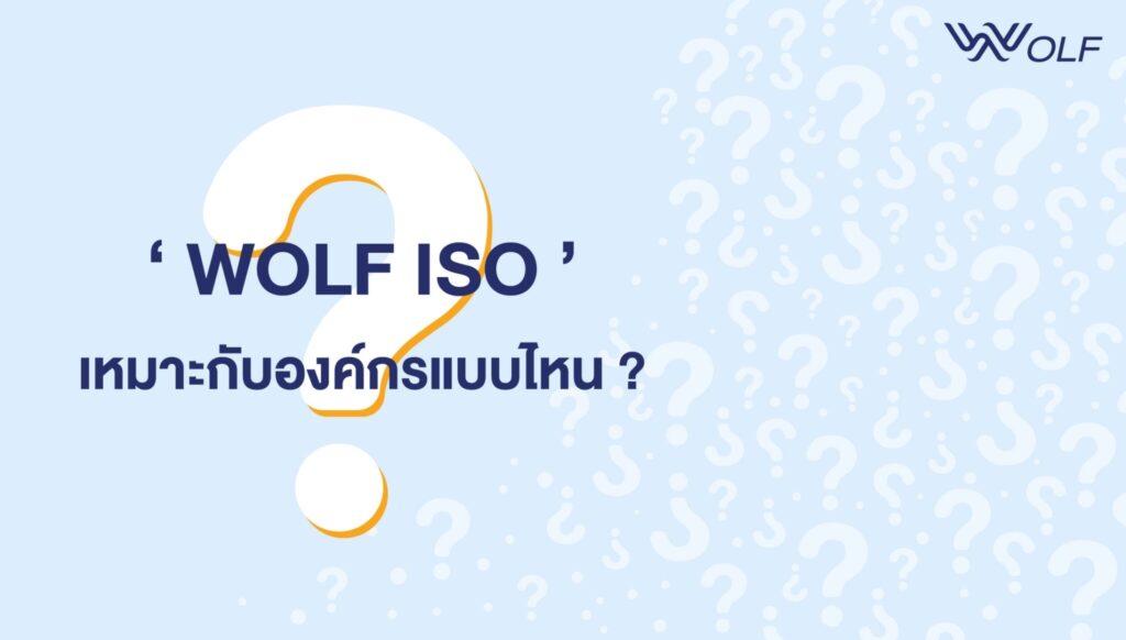WOLF ISO เหมาะกับองค์กรแบบไหน?