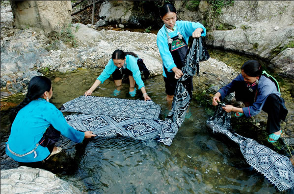 lavage tissu batik