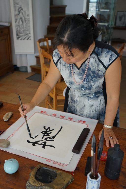 Lilan au Festival de Calligraphie