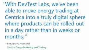 Azure DevTest quote Centrica