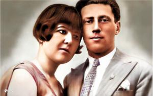 מרגלית עבו ופסח בן אורי ביום כלולותיהם 1930
