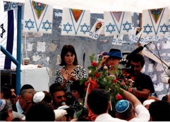 """חגיגות ל""""ג בעומר בבית עבו , 1988"""