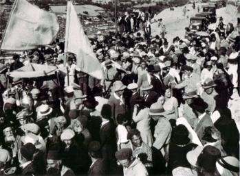 """חגיגות ל""""ג בעומר במירון, 1933"""