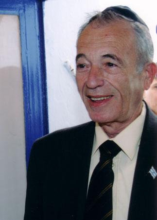 """השר גדעון עזרא נושא ברכה, תשס""""ד, 2004"""
