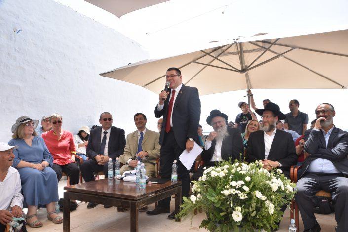 שולחן הנואמים, מר שוקי אוחנה ראש העיר צפת