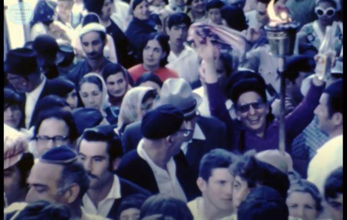 """תהלוכת ל""""ג בעומר מבית עבו בצפת - שנות ה- 70"""