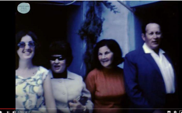 הטקס בבית עבו שנות ה- 70, משמאל אלומה הדור השישי - בתם של יוסף ויהודית עבו עברון