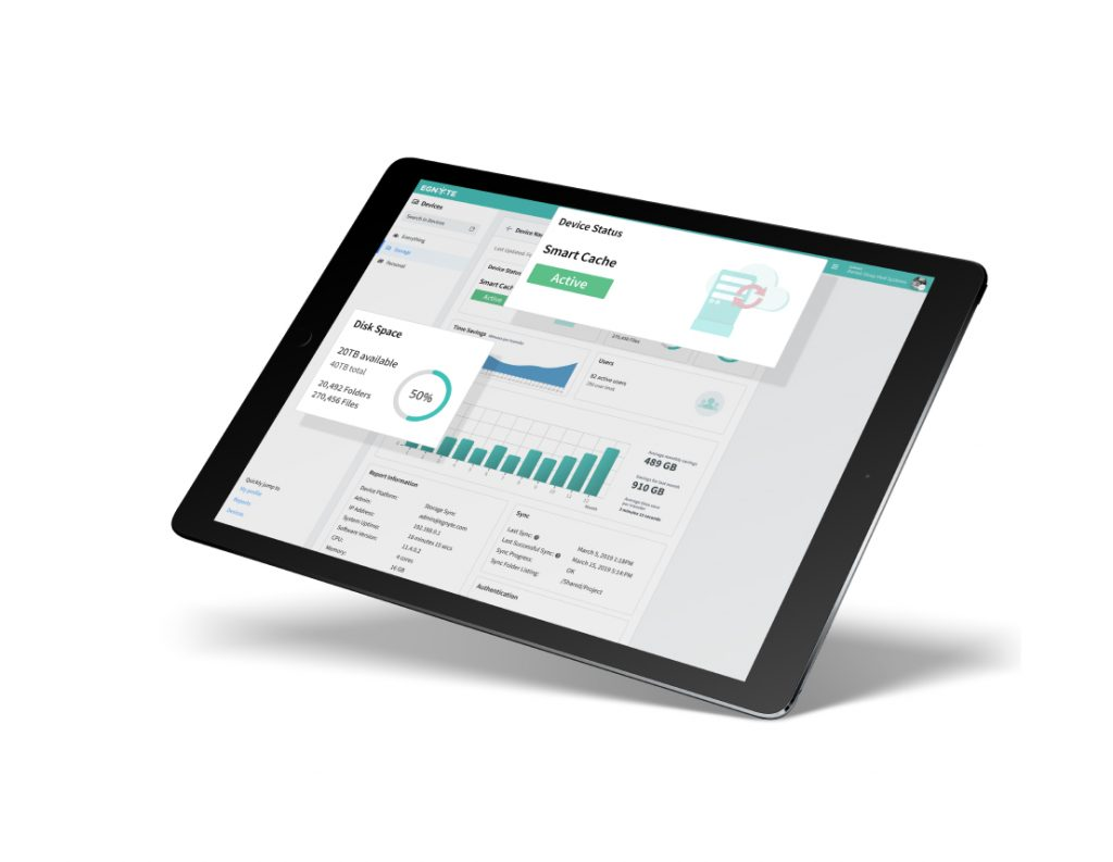 tablet with dashboard display