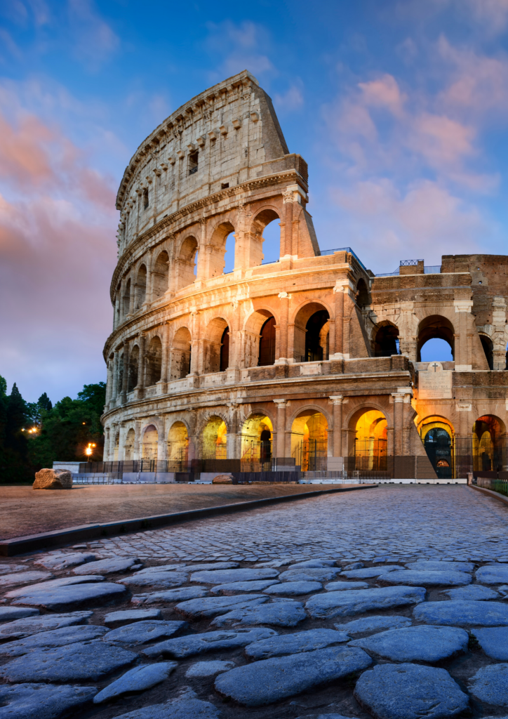 View of the Colosseum in Rome, Italy #Skip-the-lineAtTheColosseum #Colosseum #RomeItaly