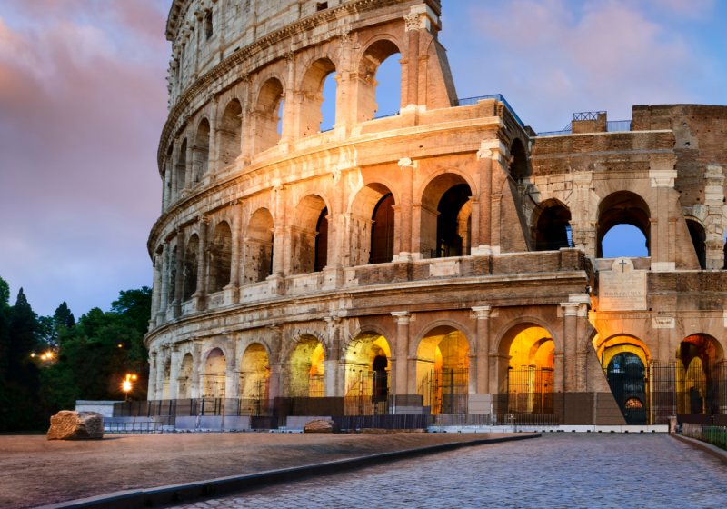 Evening view of the colosseum
