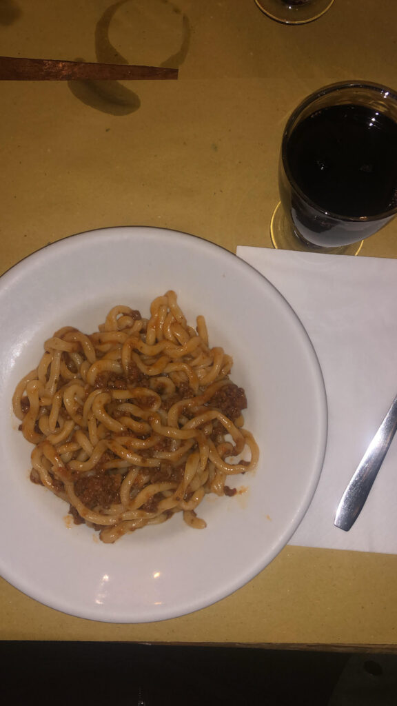 Pici alla Cinghale, typical pasta dish to try in Montepulciano #VisitMontepulciano