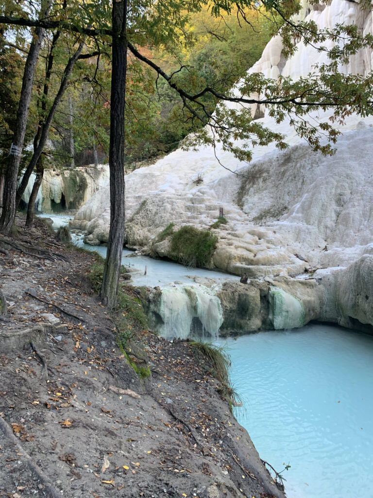 Thermal Pools at Bagni San Filippo, Italy #HotSpringsInTuscany