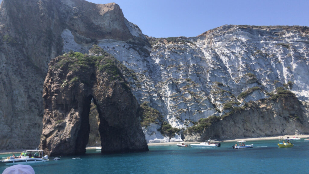 View from the boat of Ponza, Italy #UnusualDayTripsfromRome