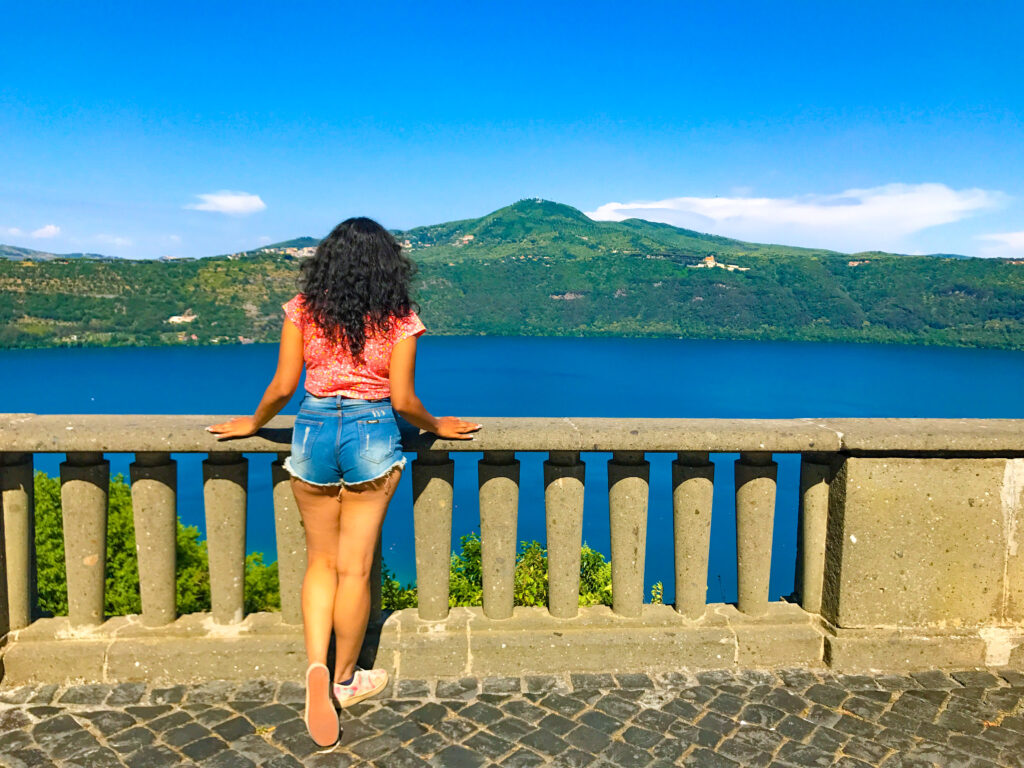 View of the lake from Castel Gandolfo, Italy #UnusualDayTripsfromRome