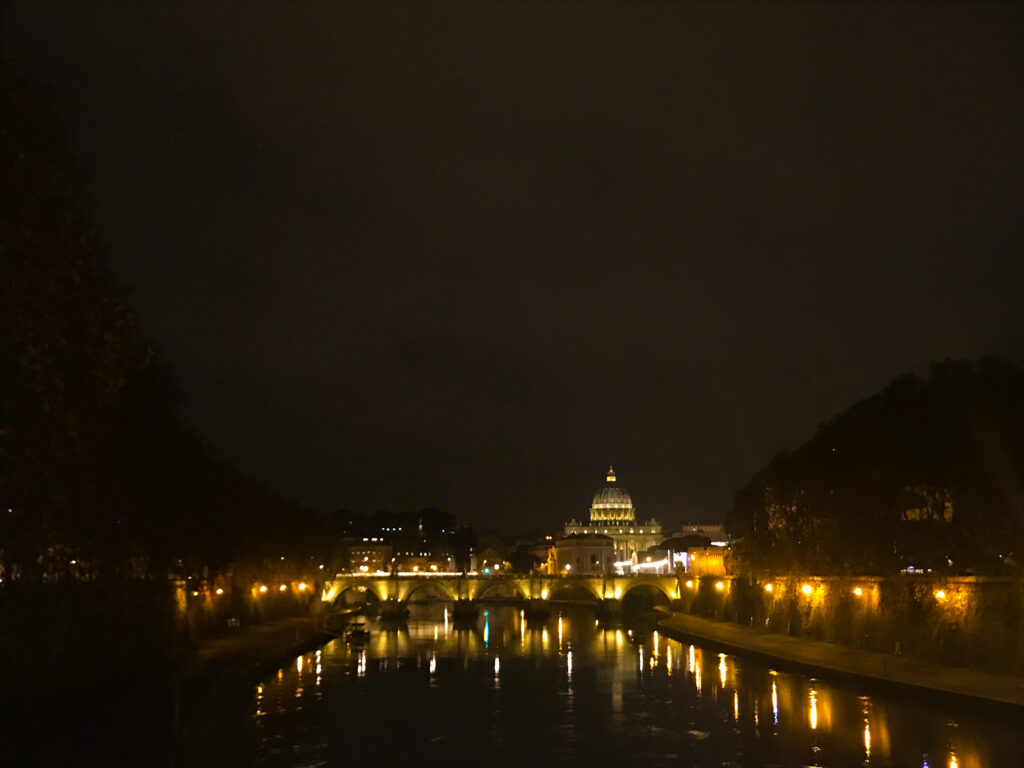 Night Views of Rome all lit up