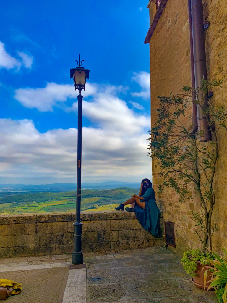 Terrace in Montepulciano with beautiful views, hidden gems in Rome