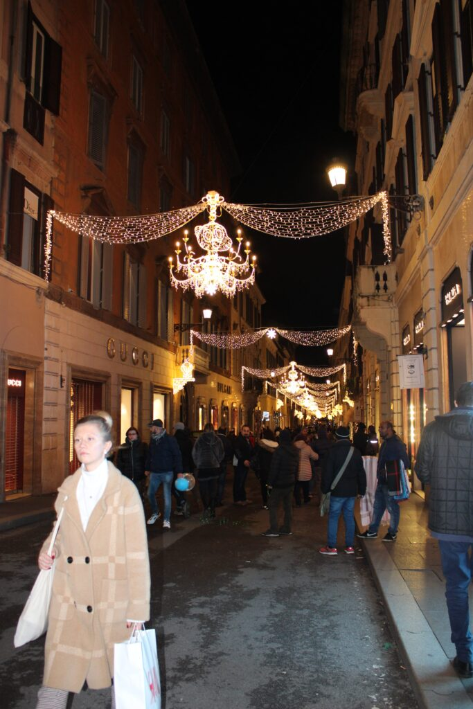 Christmas Lights at Via Condotti, Rome