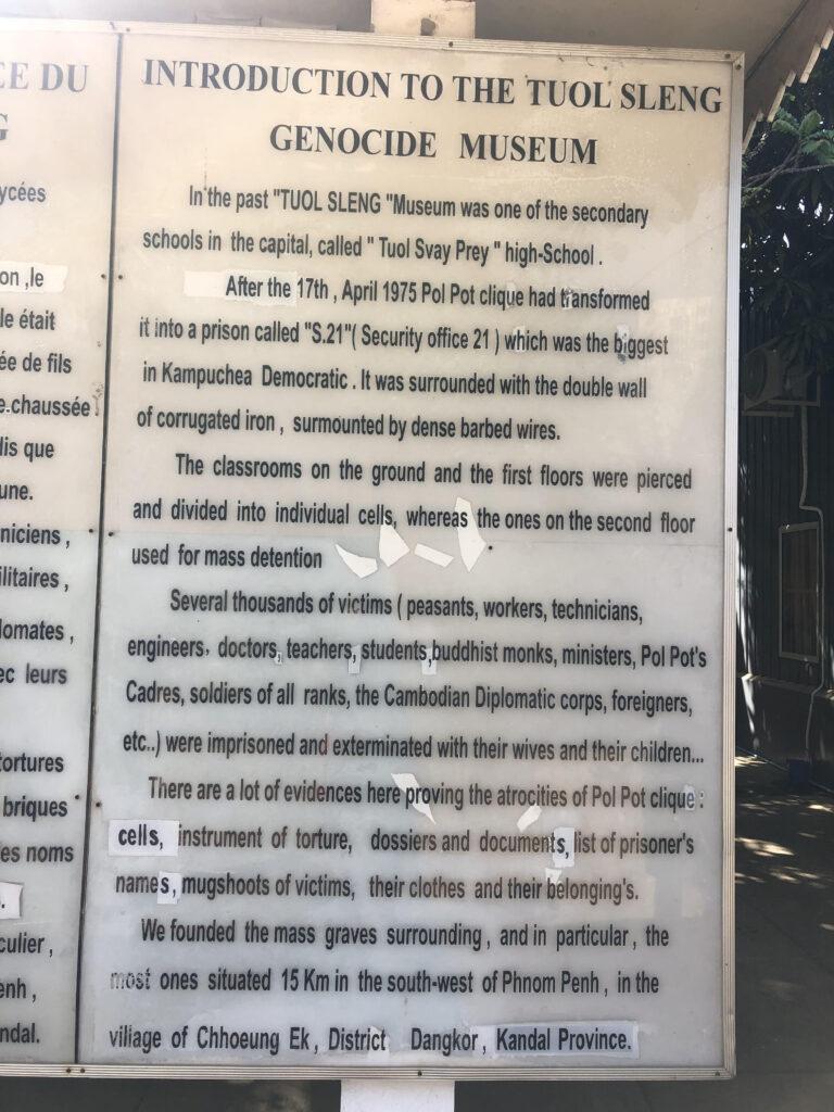 Tuol Sleng Genocide Museum Phnom Penh, Cambodia #TopThingsToDoInCambodia