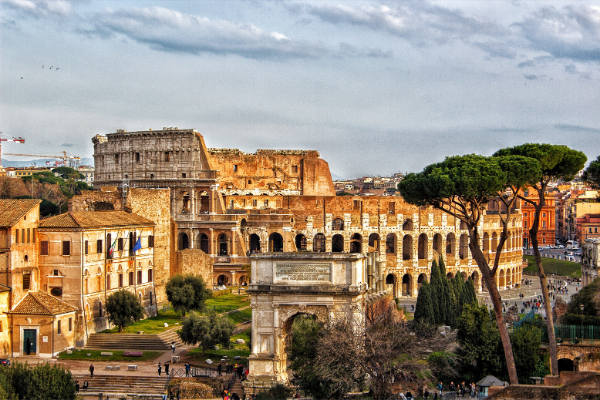 View of the Colosseum from the Palatine Hill - Best Views in Rome