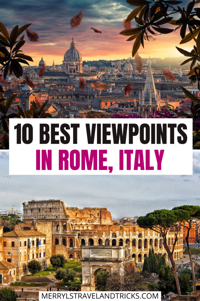 BEST VIEWS IN ROME PIN
