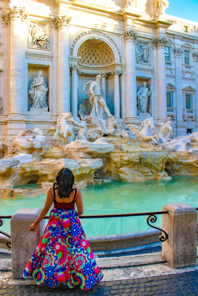 Early morning at the Trevi Fountain
