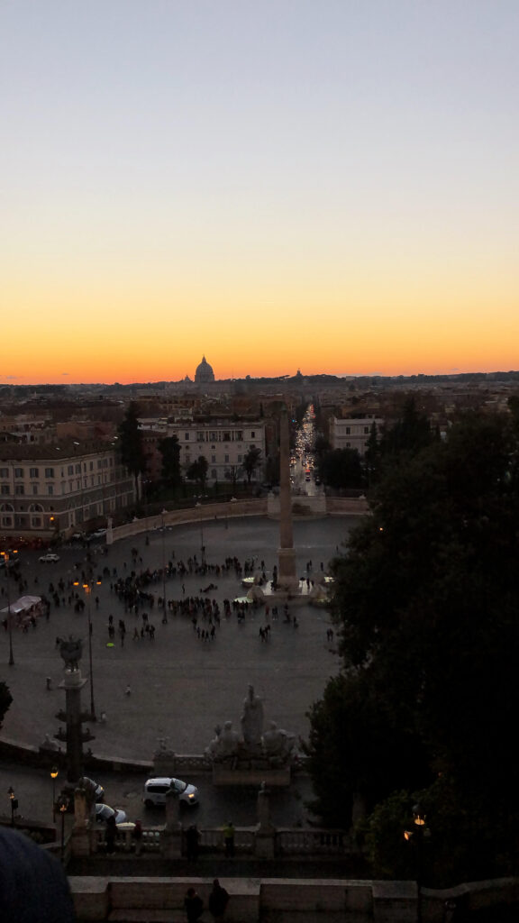 Best Sunset View in Rome at Pincio Terrace