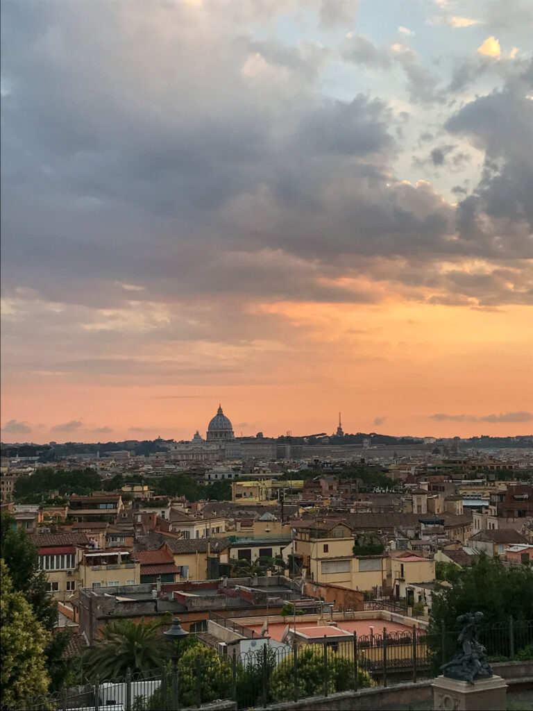 View of the Skyline of Rome during sunset   One Day in Rome