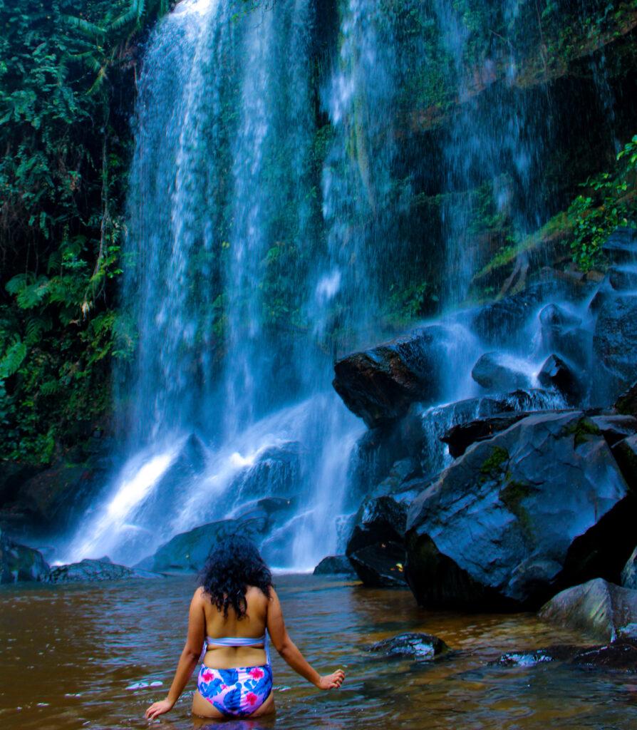 Kulen Waterfall in Kulen Mountain National Park, Siem Reap