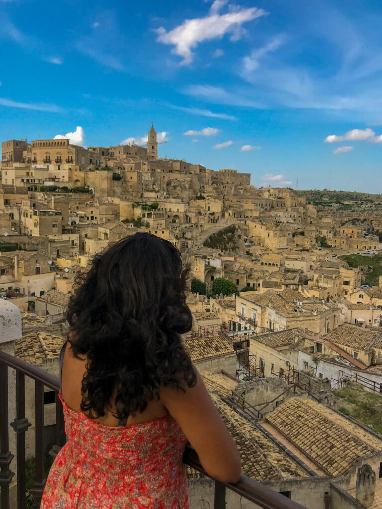 View of the ancient city center of Matera