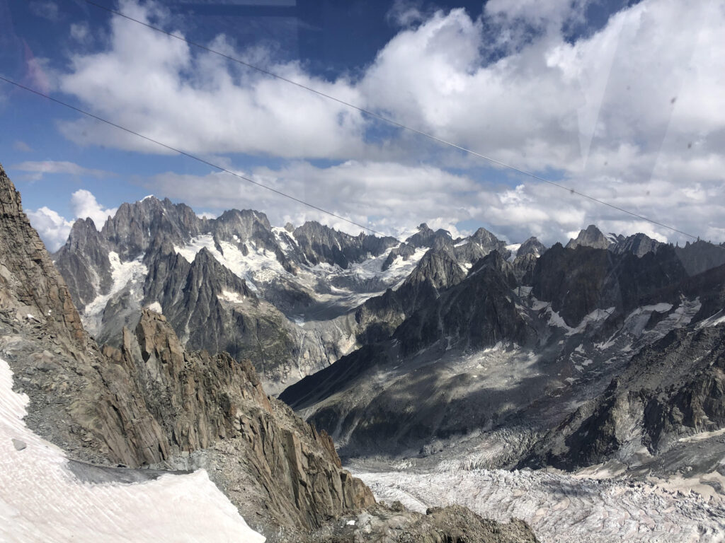 View of Courmayeur from the Panoramic Cable Car. Courmayeur is one of the hidden gems in Italy.