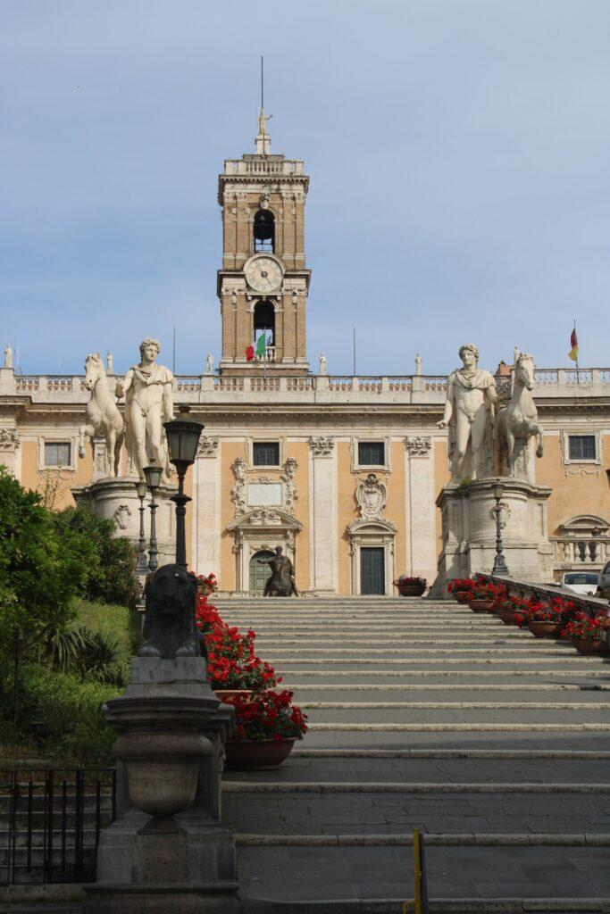 View of Piazza Campidoglio in Rome, Italy