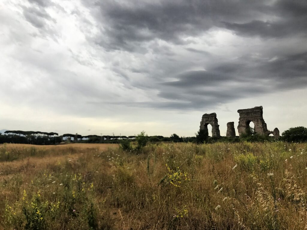 View of ruins in Rome off-the-beaten path