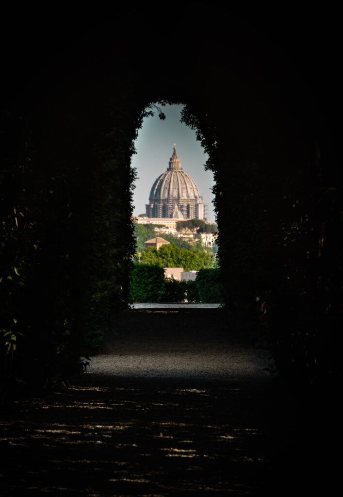 View from the keyhole on the Aventine Hill