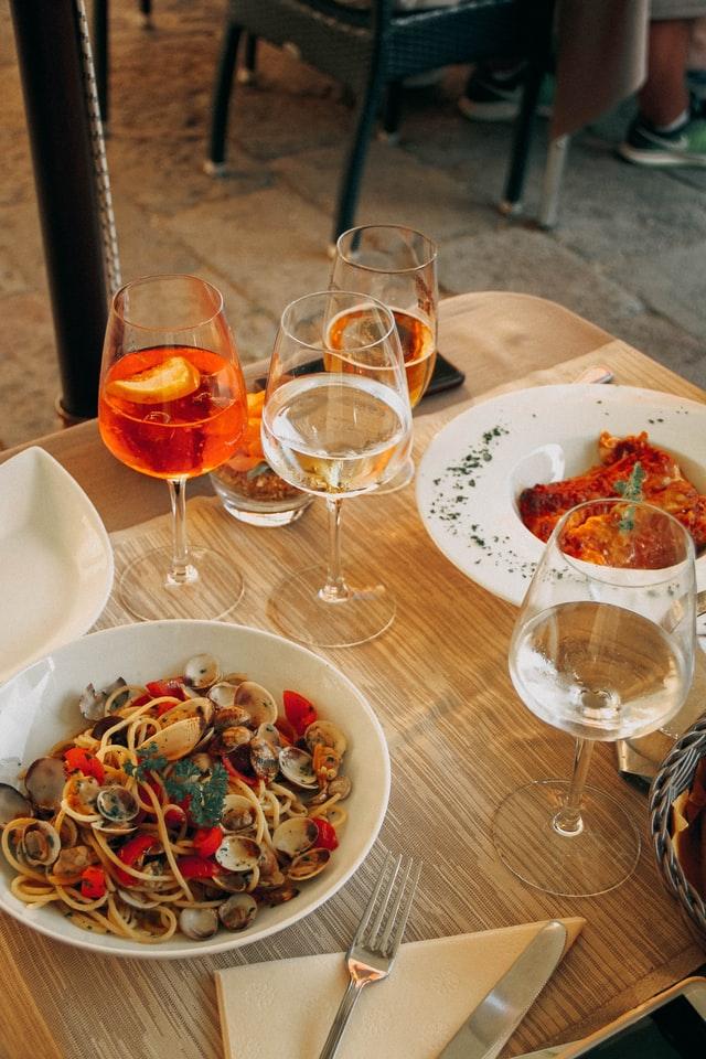 dinner at a family-run restaurant in Venice